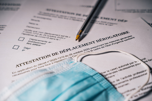 lettre attestation de déplacement
